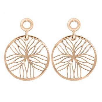 MY iMenso pair of pendant for Creoli line flower 925/rosegold-plated 21-1533