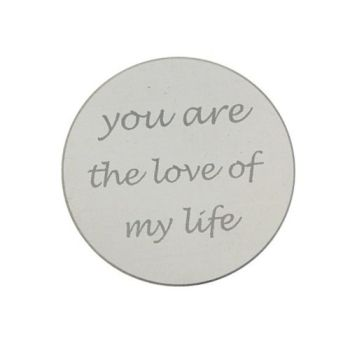 MY iMenso Engraving Insignia You are the love my life Silber 24-0286