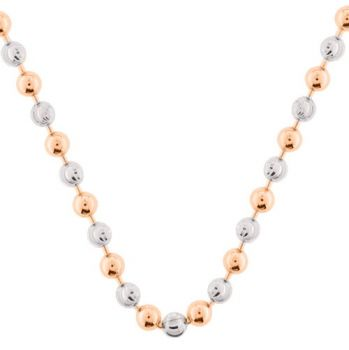 MY iMenso Kette Bead Sterlingsilber rose bicolor 27-0021