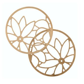 MY iMenso Cover Insignia Sunflower Silber rosegold flach 33-0722