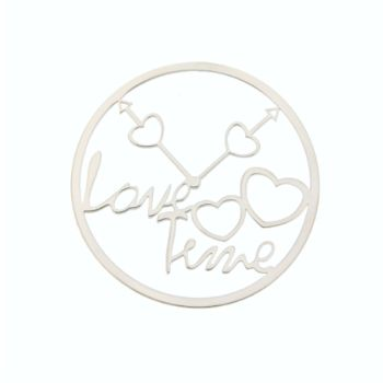 MY iMenso Cover Insignia Love Time Silber rhodiniert flach 33-0796