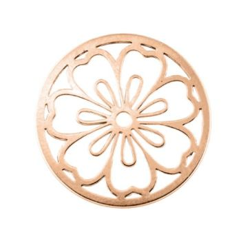 MY iMenso Cover Insignia Fantasy flower Silber rosegold flach 33-1347