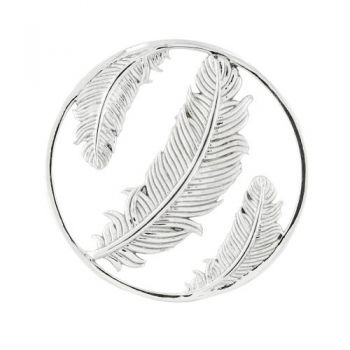 MY iMenso Fantasy Insignia triple feather Silber rhodiniert 33-1409