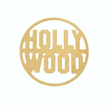 MY iMenso Cover Insignia Hollywood gelb vergoldet flach 33-0714