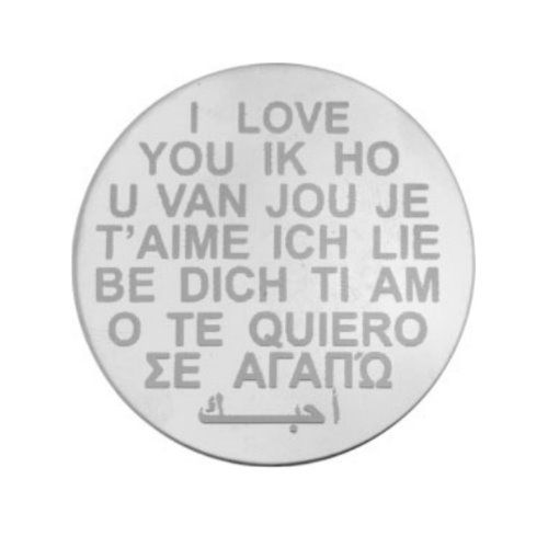 MY iMenso Engraving Insignia I love you Silber 33-0275
