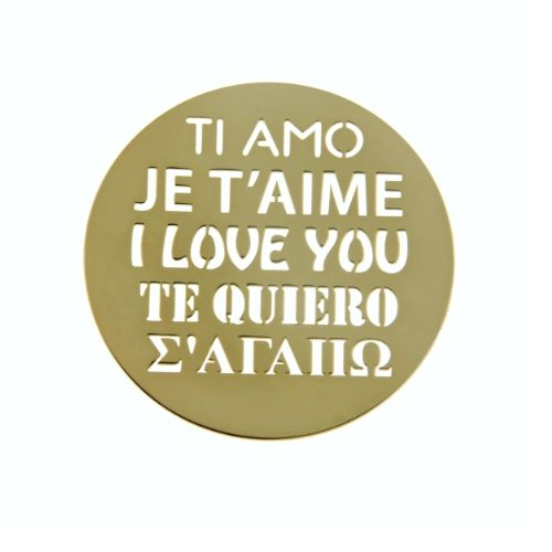 MY iMenso Cover Insignia I love you Silber gelb vergoldet flach 33-0741