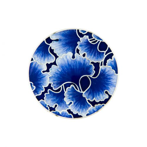 MY iMenso Enamel Insignia blue sea flower 33-1453