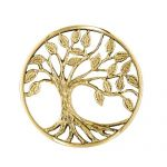MY iMenso Fantasy Insignia tree of live 3d Silber gelbgold 33-1363